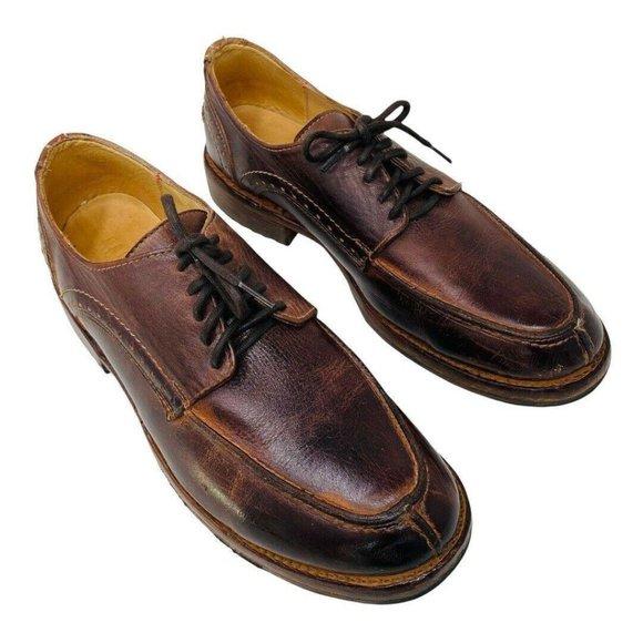 Bed Stu Men Henry Oxfords 9.5 Cobbler Series Brown